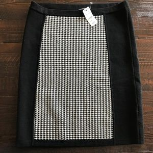 Brooks Brothers Merino Wool Skirt NWT black/white